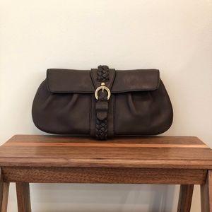 Banana Republic leather clutch